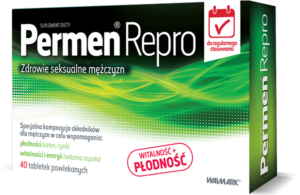 permen-repro opakowanie zawiera storczyk męski